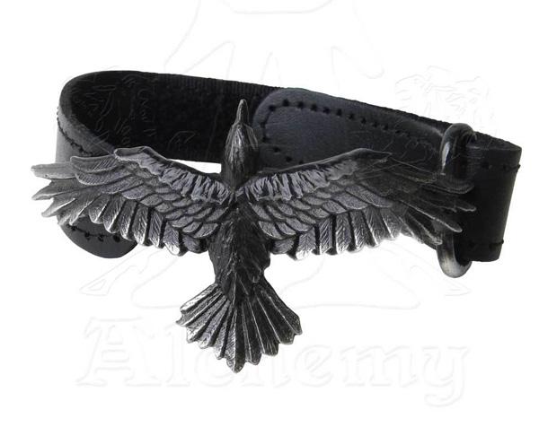 Alchemy Gothic Raven Black Consort Wriststrap