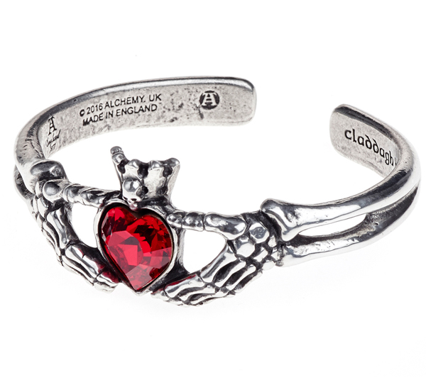 Alchemy Gothic Claddagh By Night Bracelet