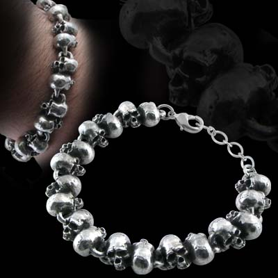 Alchemy Gothic Killing Fields Skull Bracelet