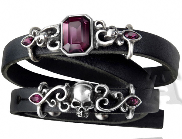 Alchemy Gothic Pirate Princess Leather Strap Bracelet