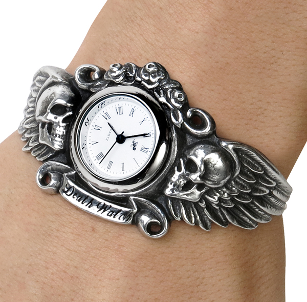 Alchemy Gothic Heart Of Lazarus Skull Wings Watch