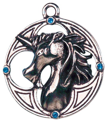 Celtic Unicorn Protection & Prosperity Pendant