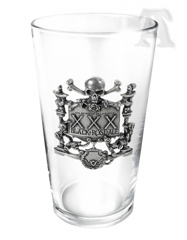 Alchemy Gothic Black Rose Ale Beer Glass