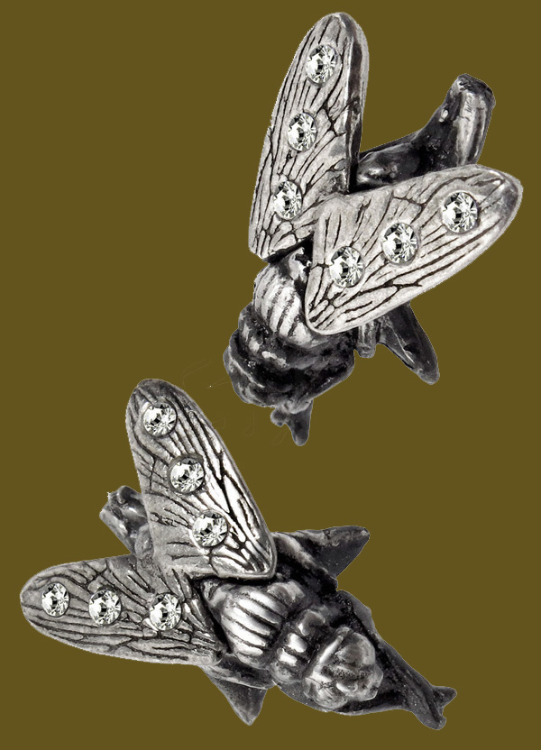 Alchemy Gothic Musca Noxiusa Fly Insect Earring