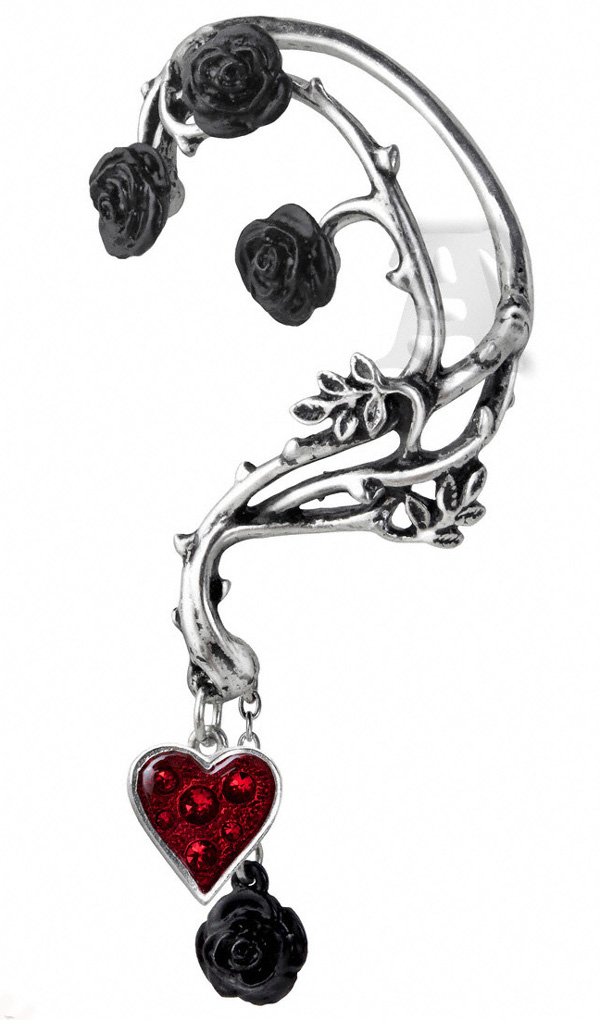 Alchemy Gothic Bed of Blood Roses Ear Wrap Earring