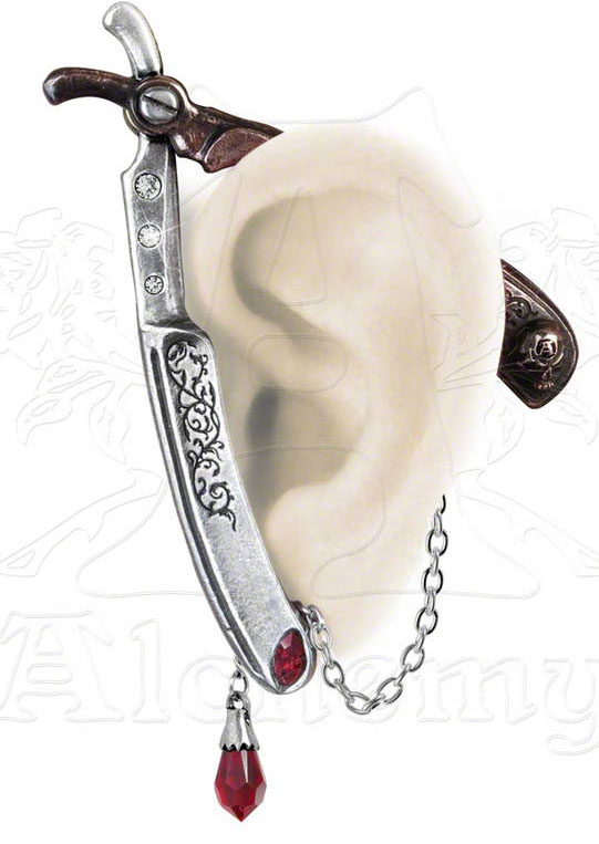 Alchemy Gothic Cut Throat Ear Wrap Earring