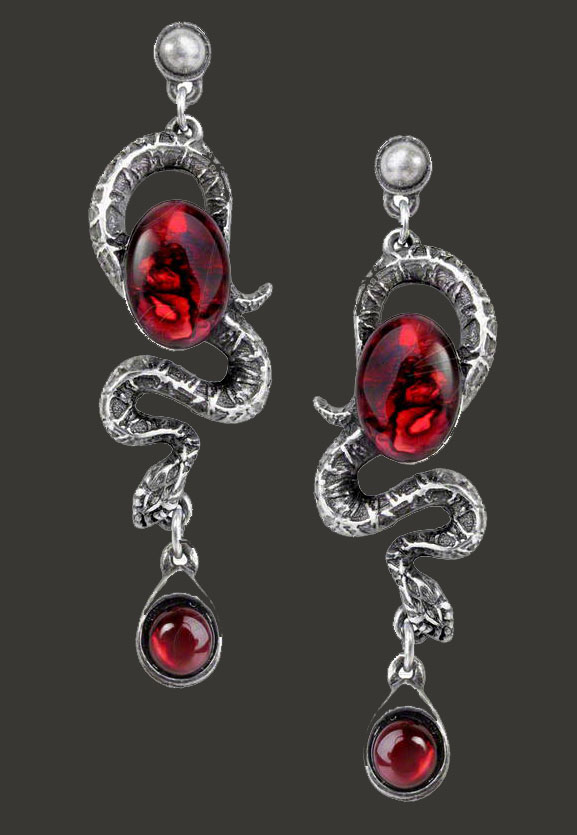 Alchemy Gothic Serpent's Eye Snake Earrings