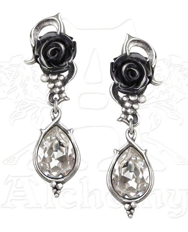 Alchemy Gothic Bacchanal Rose Earrings