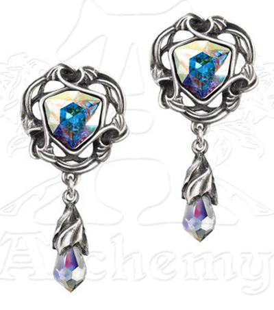 Alchemy Gothic Empyrian Eye Tears From Heaven Earrings