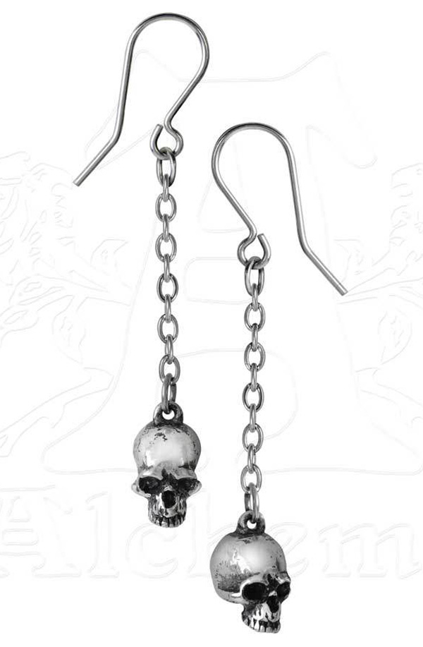 Alchemy Gothic Deadskull Earrings