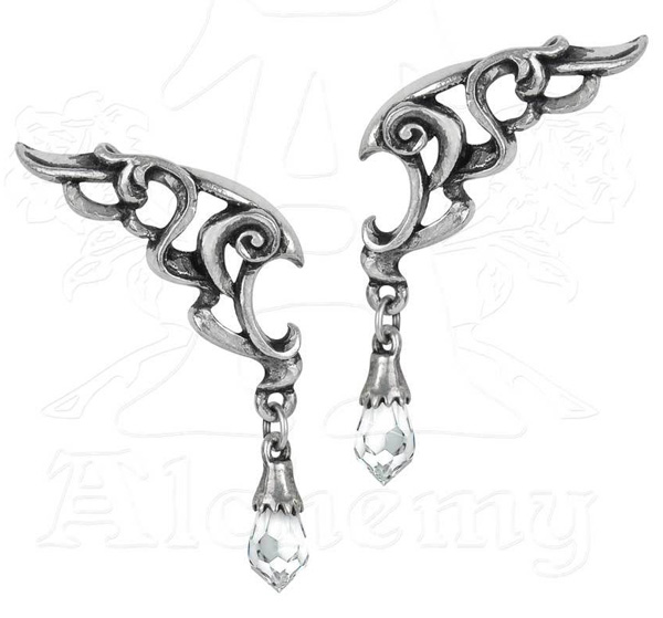 Alchemy Gothic Wings of Eternity Earrings