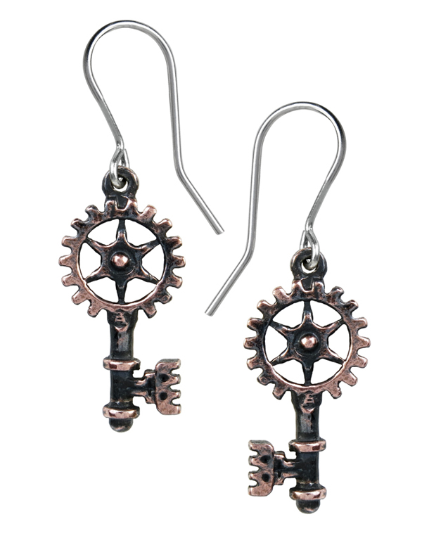 Alchemy Gothic Clavitraction Earrings Steampunk