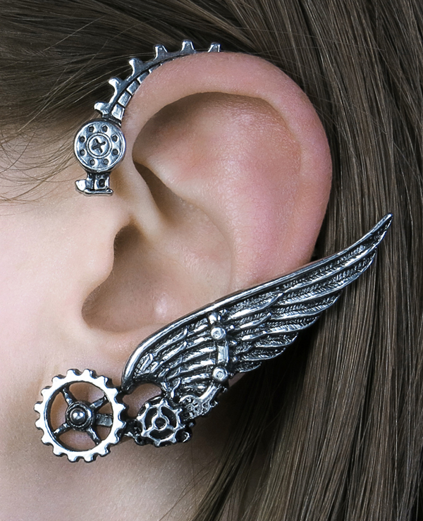 Alchemy Gothic Ikarus Ear Wrap Steampunk