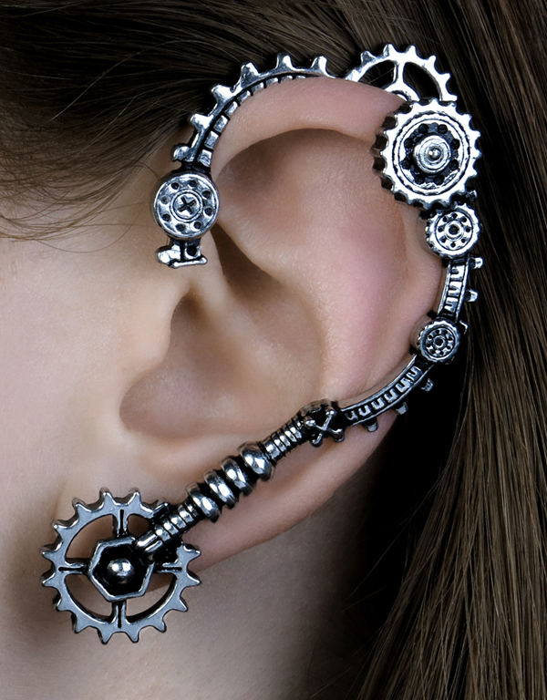 Alchemy Gothic Cognition Ear Wrap Steampunk