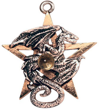 Pentagram Dragon Premonitions Pendant