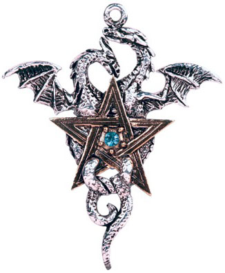 Dragon Pentagram Balance and Stability Pendant