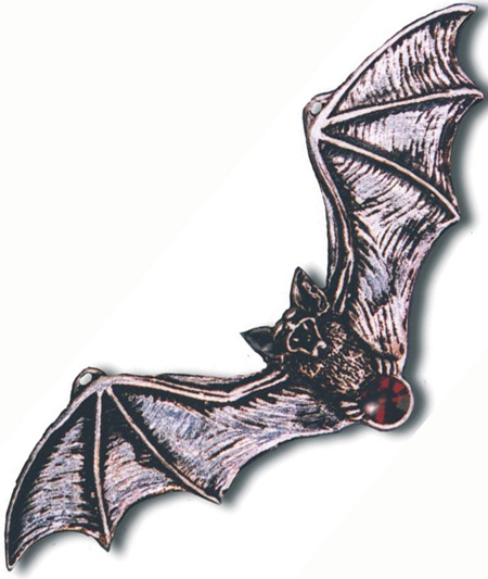 Gothic Vampire Bat Warns of Danger Pendant