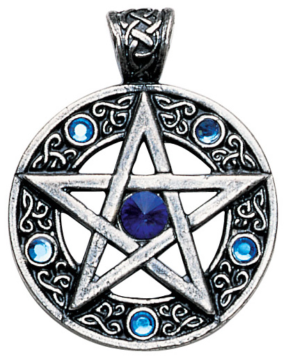 Blue Jewels Celtic Pentagram Success Pendant