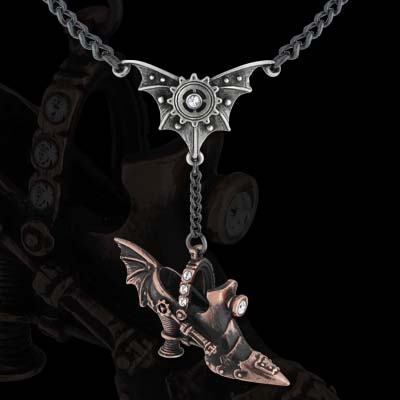 Alchemy Gothic Steampunk Spring Heeled Jill Pendant