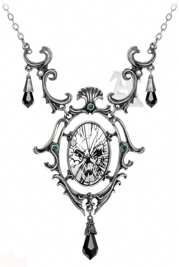 Alchemy Gothic Catoptrauma Necklace Divination Mirror