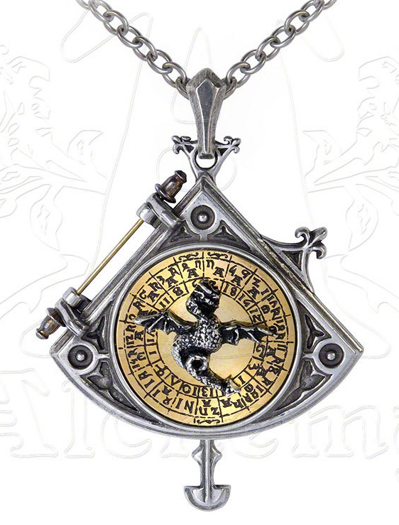 Alchemy Gothic Enlightenment Astral Dragon Quadrant Locket