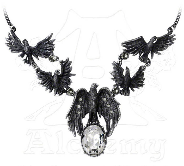 Alchemy Gothic A Murder of Crows Necklace