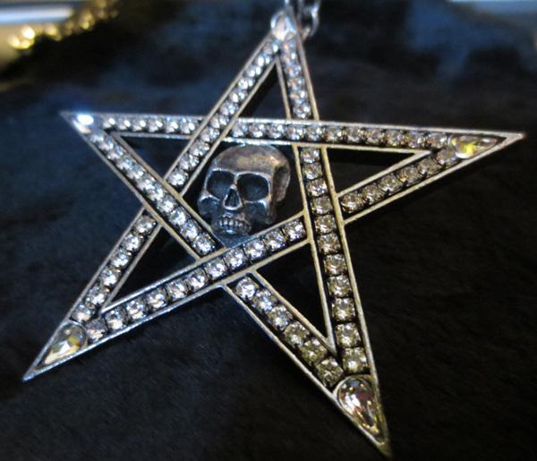 Alchemy Gothic Crystalwitch Swarovski Crystal Pentagram Pendant