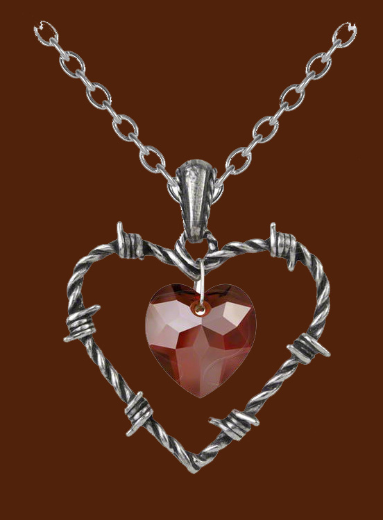 Alchemy Gothic Love Imprisoned Heart Necklace