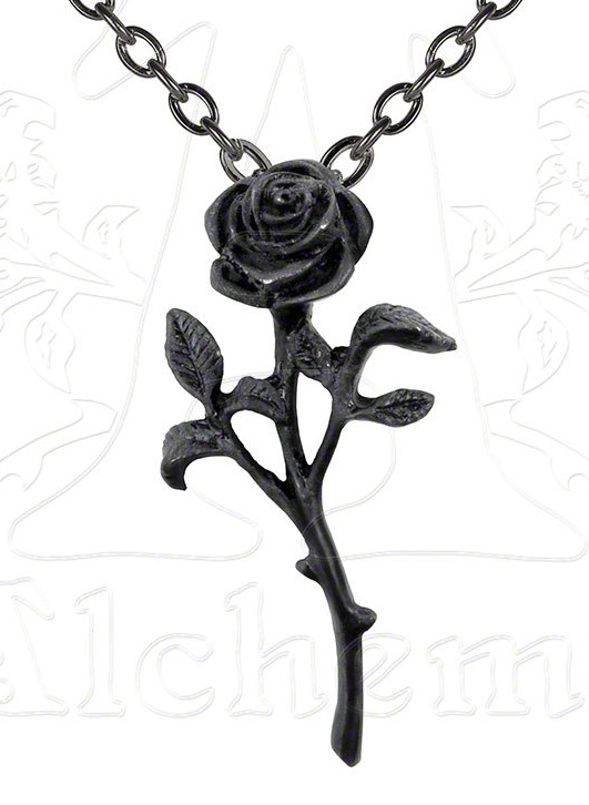 Alchemy Gothic The Romance of The Black Rose Pendant