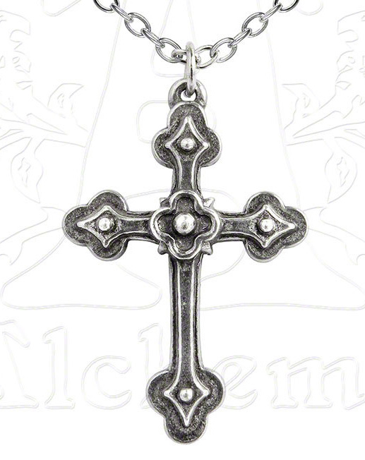 Alchemy Gothic Christian Cross Devotion Pendant