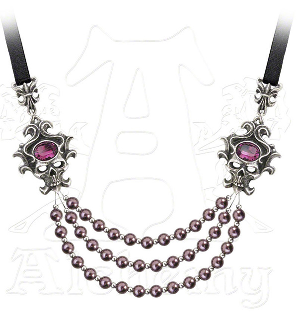 Alchemy Gothic The Palatine Pearls of the Underworld Necklace