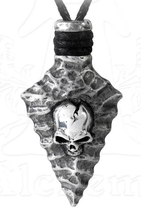 Alchemy Gothic Skull Spear Capitaneus Pendant Necklace
