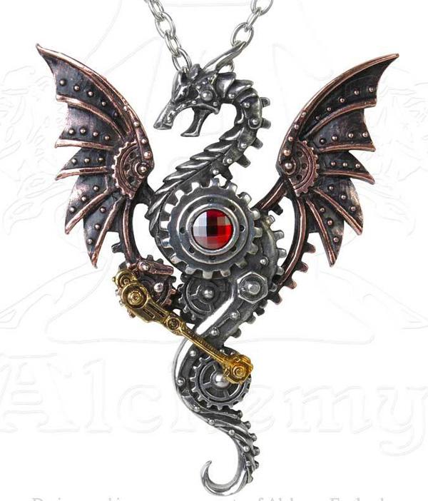 Alchemy Gothic Steampunk Blast Furnace Behemoth Pendant