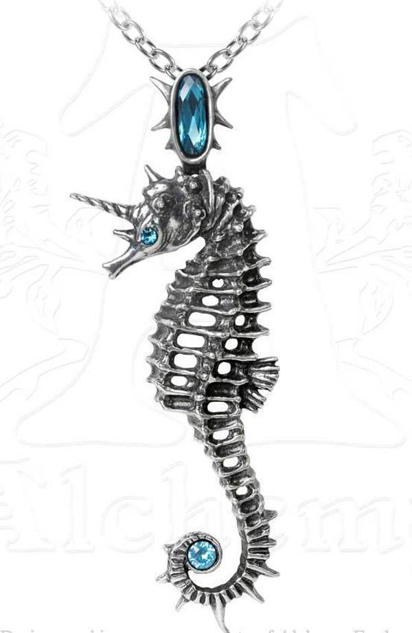Alchemy Gothic Seahorse Unicorn Aequicorn Pendant