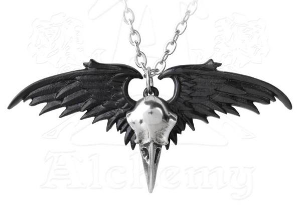 Alchemy Gothic Winged Raven Skull Ravenger PendantRavenger Pendant