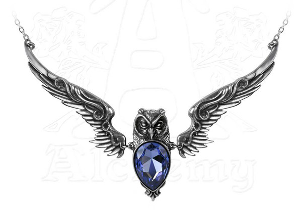 Alchemy Gothic Owl Stryx Pendant Necklace