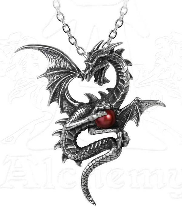 Alchemy Gothic Aethera Draconem Pendant Necklace