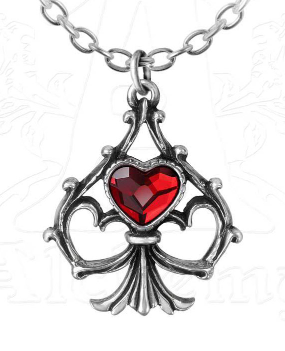 Alchemy Gothic Lucky in Love Pendant Necklace
