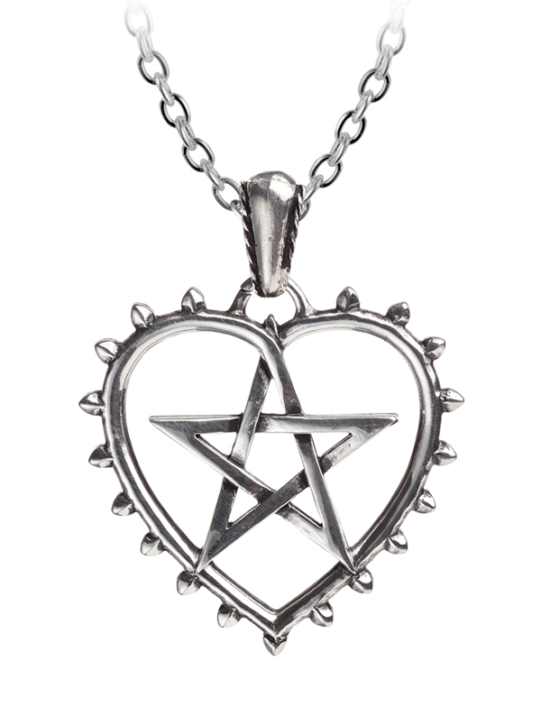 Alchemy Gothic Pentagram Heart Pendant Necklace