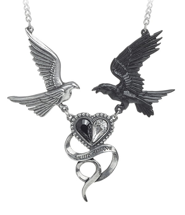 Alchemy Gothic Raven Epiphany of St. Corvus Necklace
