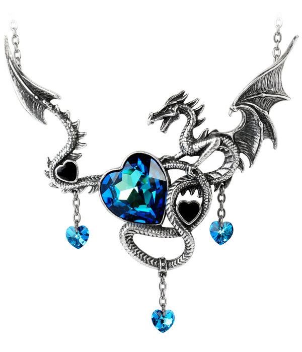 Alchemy Gothic Dragon Draig O Gariad Necklace