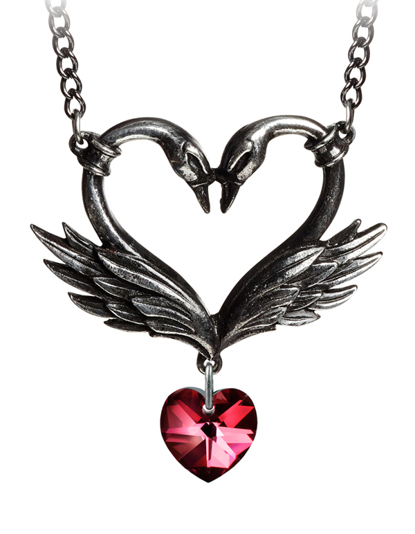 Alchemy Gothic The Black Swan Romance Necklace