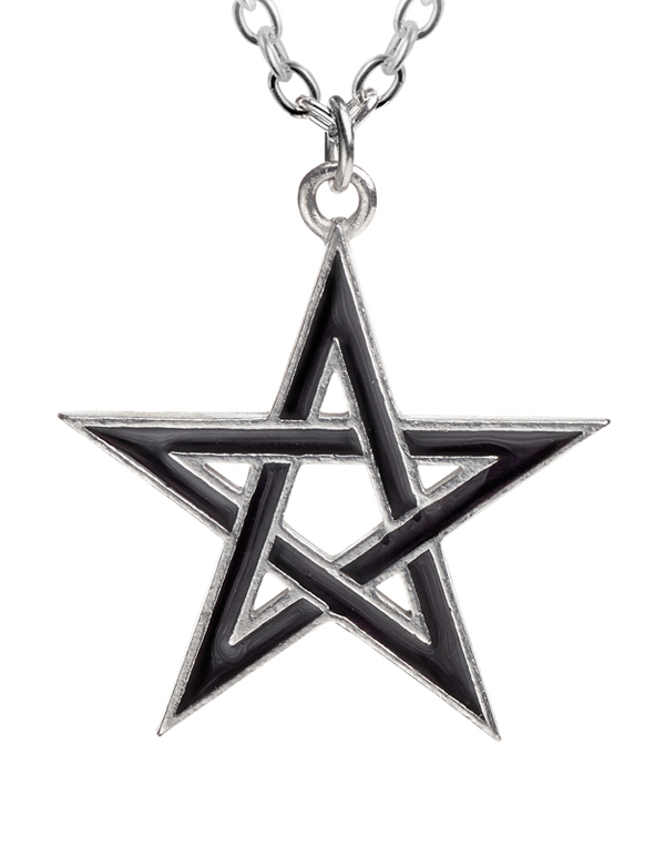 Alchemy Gothic Pentagram Black Star Pendant Necklace