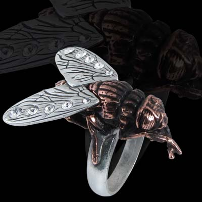 Alchemy Gothic Lord of The Flies Ring
