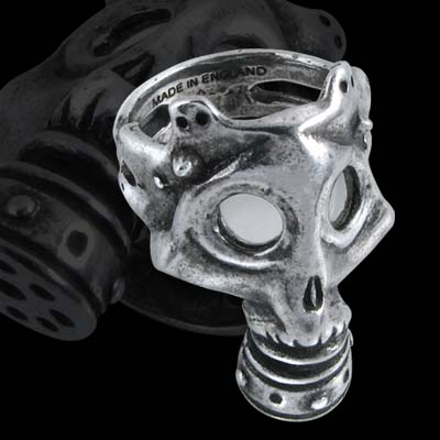 Alchemy Gothic War Gas Mask Asphyxia Ring