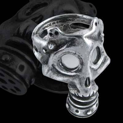 Alchemy Gothic War Gas Mask Asphyxia Ring