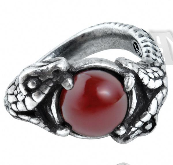 Alchemy Gothic Viperstone Snake Ring