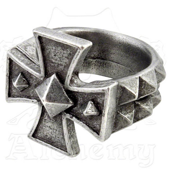 Alchemy Gothic Cross of Iron Ring