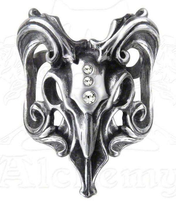 Alchemy Gothic Egyptian Aries Ram Amon Ra Ring