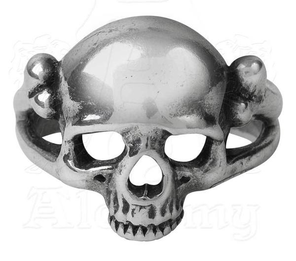 Alchemy Gothic Memoria Mortalis Skull Ring